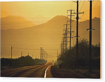 Wood Print featuring the photograph The Golden Road by Matt Harang