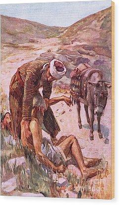 The Good Samaritan Wood Print by Harold Copping