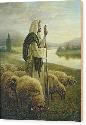 The Good Shepherd Wood Print by Greg Olsen