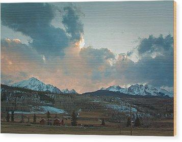 The Gore Range Wood Print by Greg Sagan