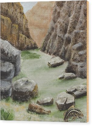 Wood Print featuring the painting The Gorge by Susan Culver