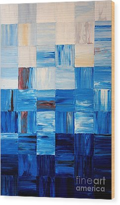 The Goss - Blue Wood Print