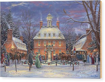The Governor's Party Wood Print by Chuck Pinson