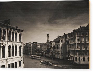 The Grand Canal Wood Print by Aaron Bedell