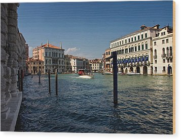 Wood Print featuring the photograph The Grand Canal by Stephen Taylor