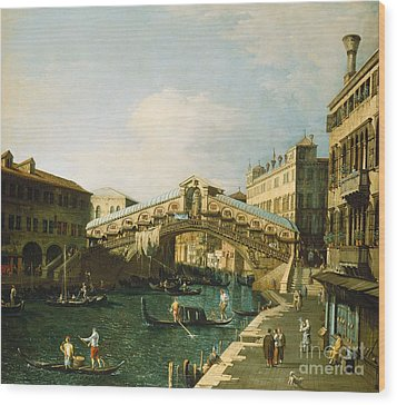 The Grand Canal   Venice Wood Print by Canaletto