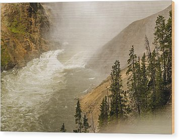 Wood Print featuring the photograph The Grand Canyon Of Yellowstone by Yeates Photography