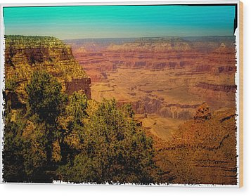 The Grand Canyon Vintage Americana Vii Wood Print by David Patterson