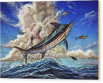 The Grand Challenge  Marlin Wood Print by Terry Fox