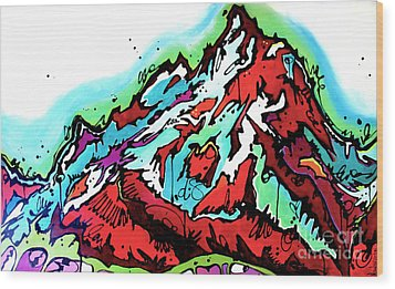 The Grand From Jackson Lake Wood Print
