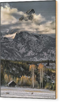 The Grand Teton Wood Print