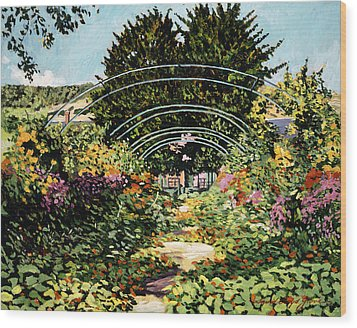 The Grande Alle Monet's Garden Wood Print by David Lloyd Glover
