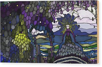 The Grape Arbor Medusa Wood Print by Constance Krejci