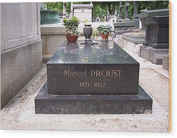 The Grave Of Marcel Proust In Paris France Wood Print