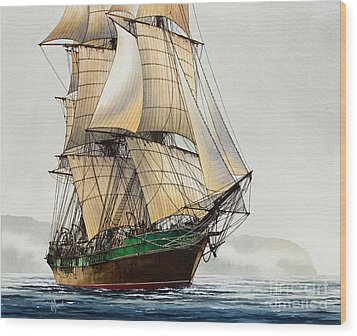 The Great Age Of Sail Wood Print by James Williamson