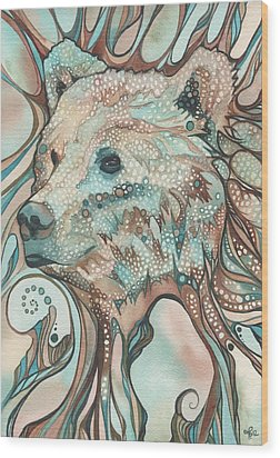 The Great Bear Spirit Wood Print by Tamara Phillips