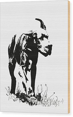 The Great Dane Wood Print