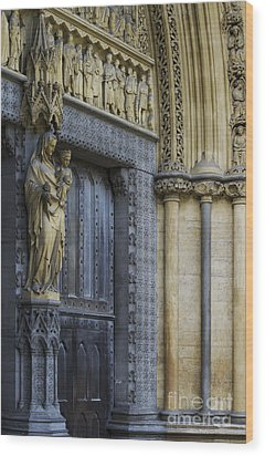 The Great Door Westminster Abbey London Wood Print by Tim Gainey