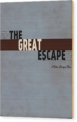 The Great Escape Wood Print by Inspirowl Design