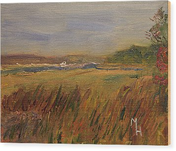 Wood Print featuring the painting The Great Marsh by Michael Helfen