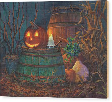 The Great Pumpkin Wood Print by Michael Humphries