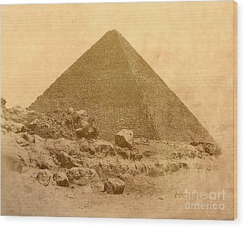 Wood Print featuring the photograph The Great Pyramid by Nigel Fletcher-Jones