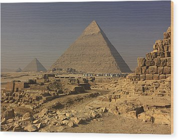 The Great Pyramids Of Giza Egypt  Wood Print by Ivan Pendjakov
