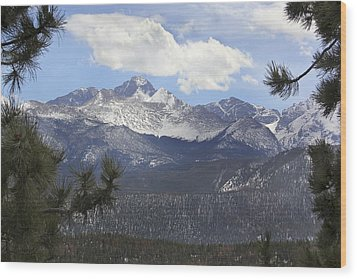 The Rocky Mountains - Colorado Wood Print by Mike McGlothlen