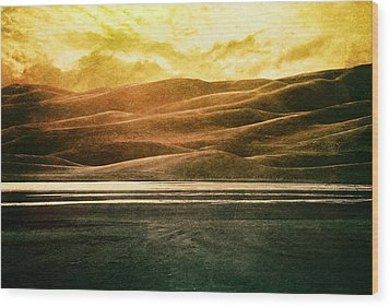 The Great Sand Dunes Wood Print by Brett Pfister