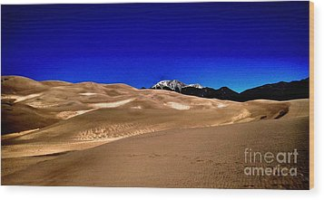 The Great Sand Dunes1 Wood Print by Claudette Bujold-Poirier