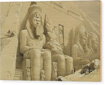 The Great Temple Of Abu Simbel Wood Print by David Roberts