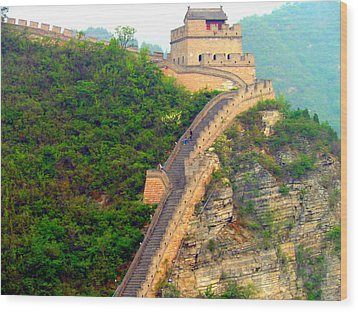 Wood Print featuring the photograph The Great Wall 2 by Kay Gilley