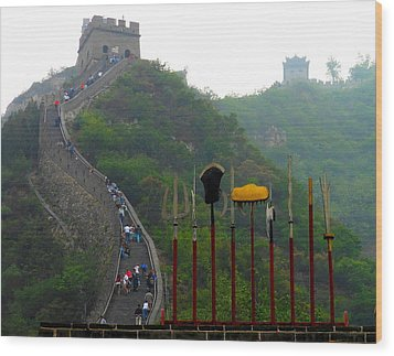 Wood Print featuring the photograph The Great Wall by Kay Gilley