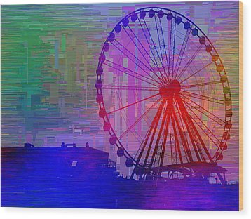 The Great  Wheel Cubed Wood Print
