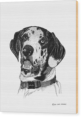 The Greatest Dane Wood Print by Jack Pumphrey