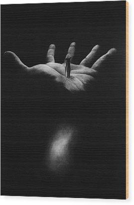 The Greatest Gift Wood Print by Rebekah Kitzmiller