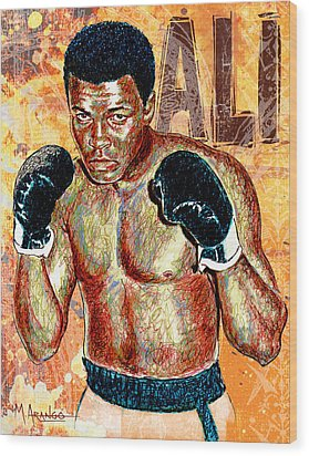 The Greatest Of All Time Wood Print by Maria Arango