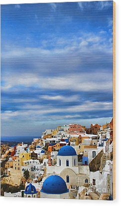 The Greek Isles-oia Wood Print