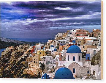 The Greek Isles Santorini Wood Print