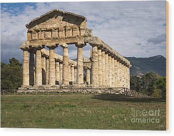The Greek Temple Of Athena Wood Print