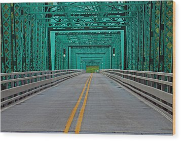 The Green Bridge Wood Print
