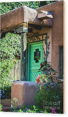 The Green Door Wood Print by Jim McCain