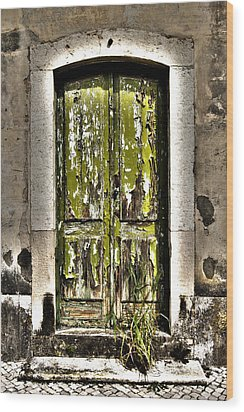 The Green Door Wood Print