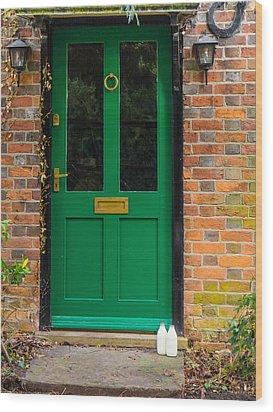 The Green Door Wood Print by Mark Llewellyn