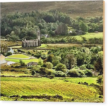 Wood Print featuring the photograph The Green Valley Of Poisoned Glen by Charlie and Norma Brock