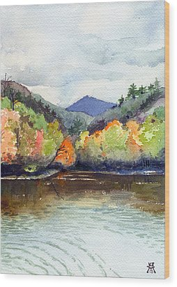 The Greenbriar River Wood Print by Katherine Miller