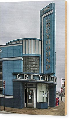 The Greyhound Bus Station Wood Print by Julie Dant
