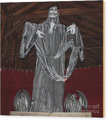 The Grim Reaper Wood Print by John Telfer