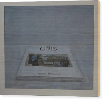 The Gris Book Wood Print by Paez  Antonio