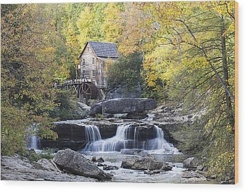 The Grist Mill Wood Print by Amber Kresge